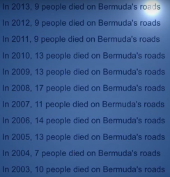QKO Bermuda Road Deaths 2003-2013