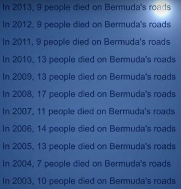QKO Bermuda Road Deaths 2003-2013