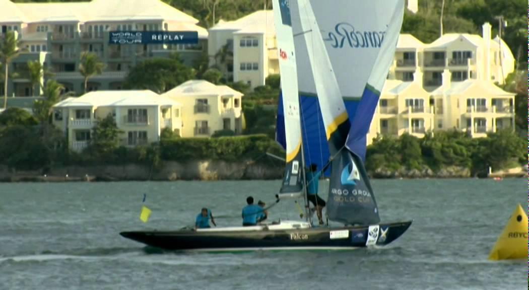 Francesco Bruni knocked overboard  – Bermuda Oct 7, 2011
