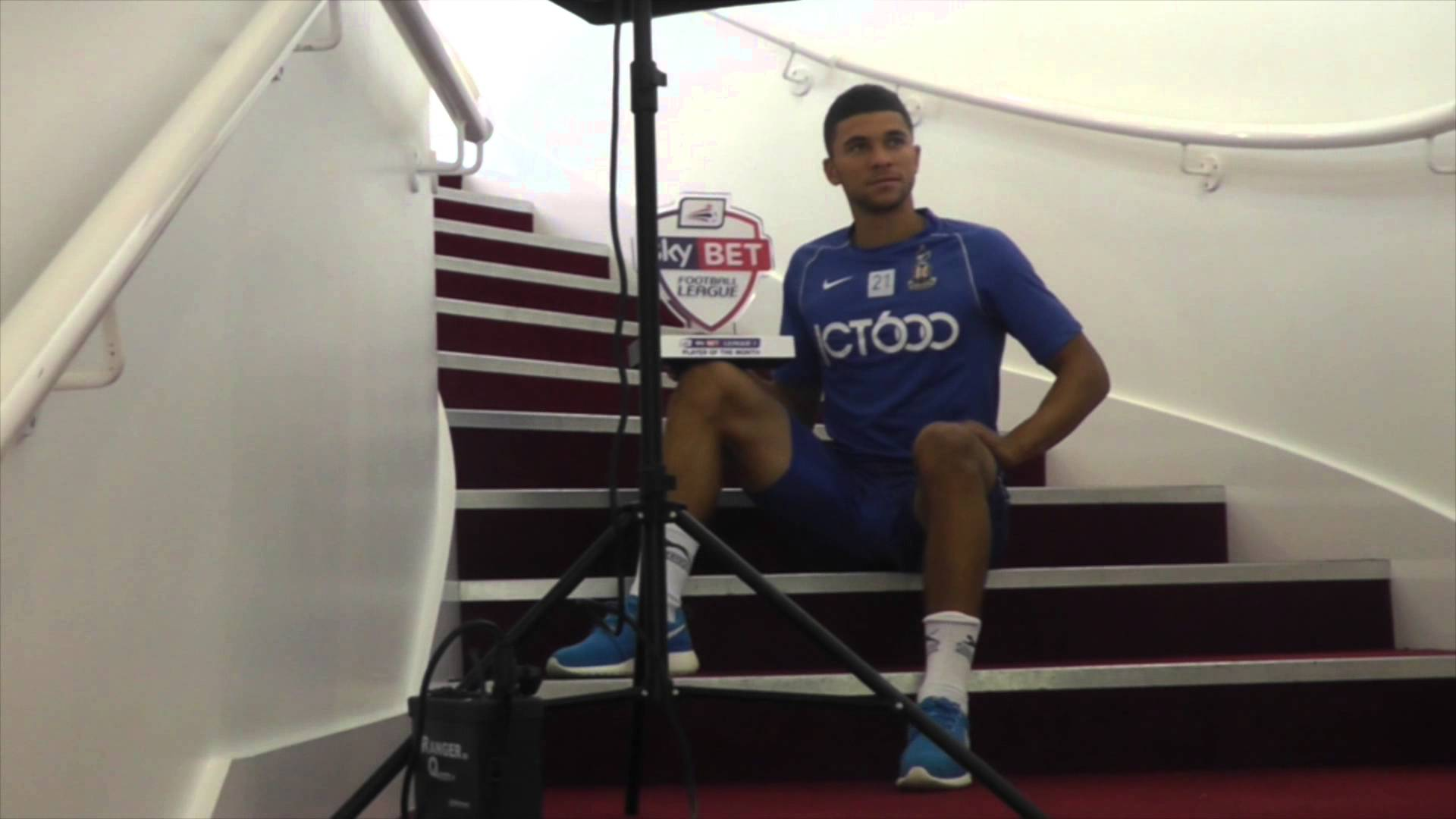 Nahki Wells interview – Sky Bet League 1 Player of the Month Award