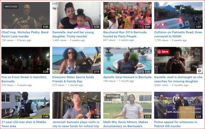Today in Bermuda YT playlist