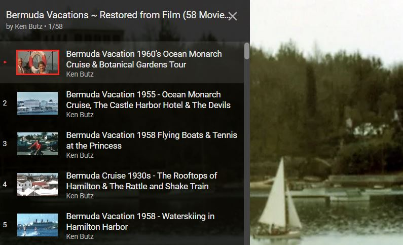 #Bermuda Vacations – Restored from Film (58 Movies) #YTPlaylist @glutenfreemike