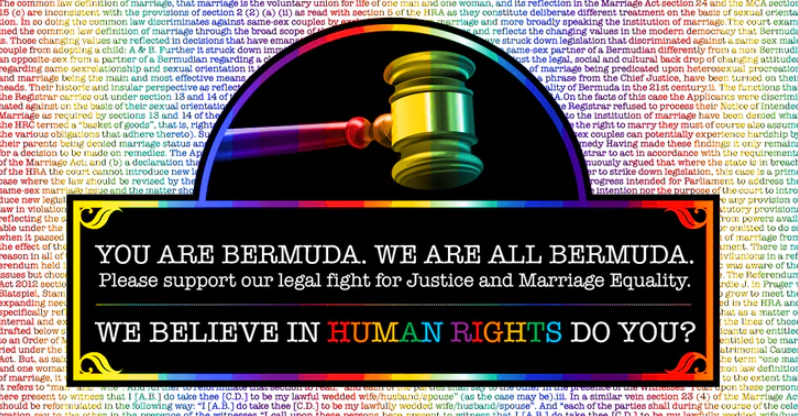 Same Sex Marriage – The fight for Justice & Equality in #Bermuda @crowdjustice #LGBT