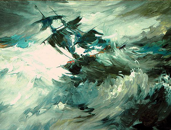 Sea Venture in the storm by William Harrington